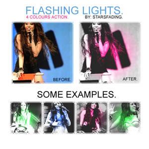 flashing lights.