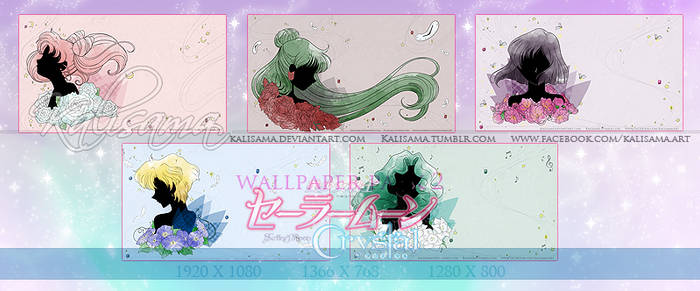 SM Crystal Outer Senshi Wallpaper Pack