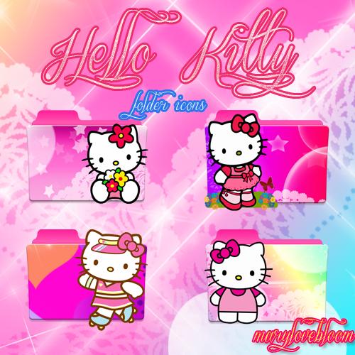 Rq Hello Kitty Folder Icons Pack By Marylovebloom On Deviantart