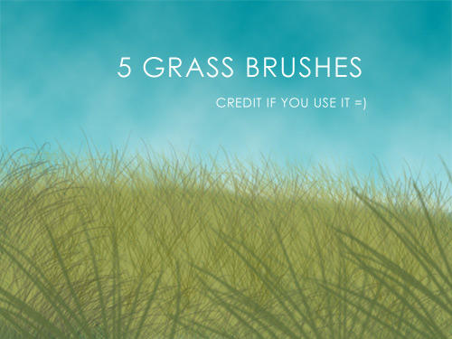 5 Grass Brushes by akibara-stock
