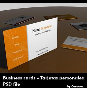 Business card templates by Coreaux