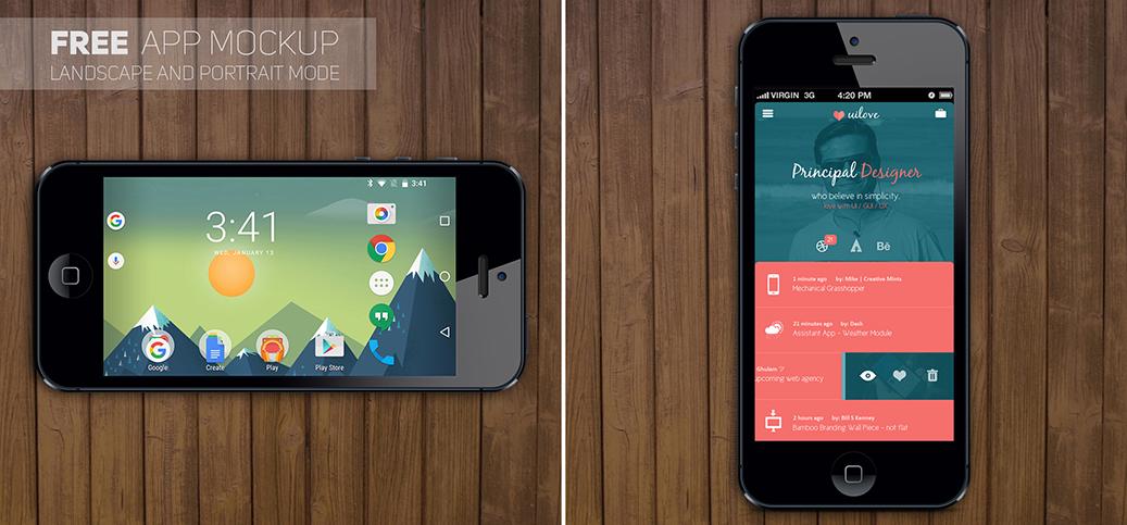 App mockup by Coreaux