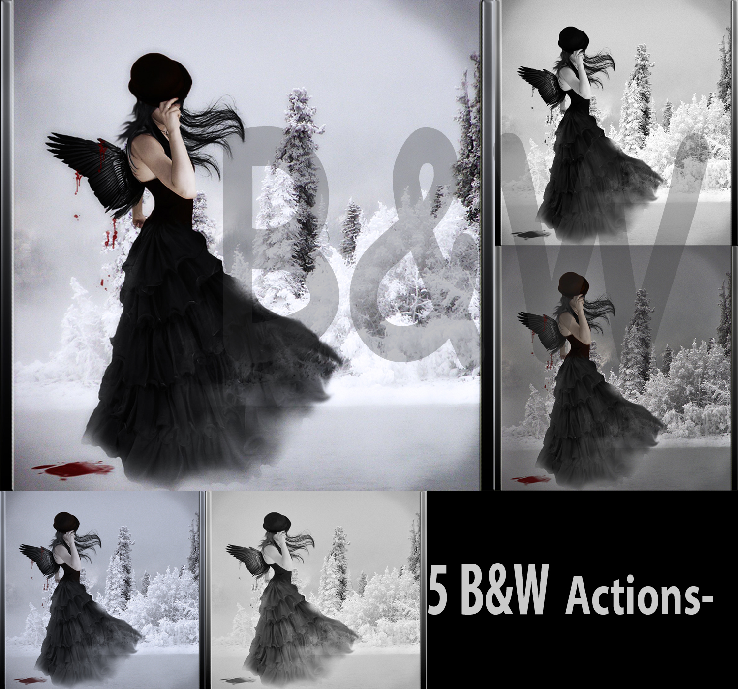 Black and White ps actions