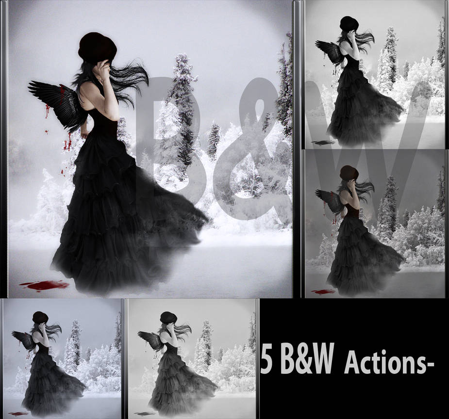 Black and White ps actions by Ameliethe