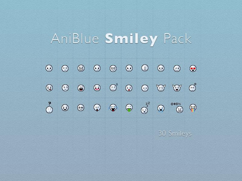 Aniblue Smileys by Sirri-R-P