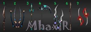 [CLOSED] Custom Weapons Slots 2 by MhaxiR