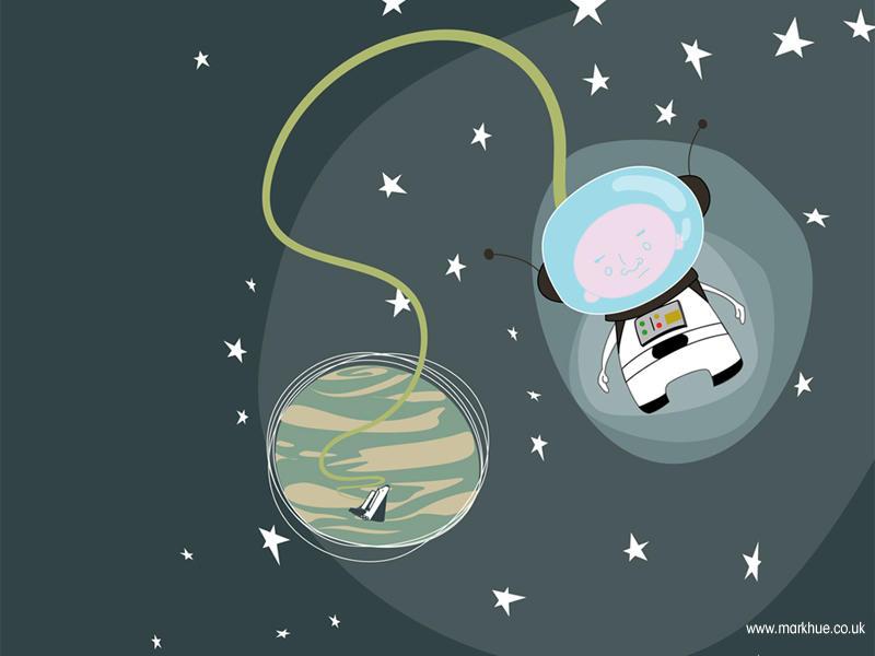 Space Boy desktop by loungechap