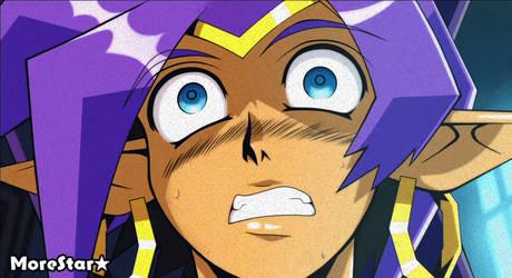 Shantae in Horror (gif) by MoreStar