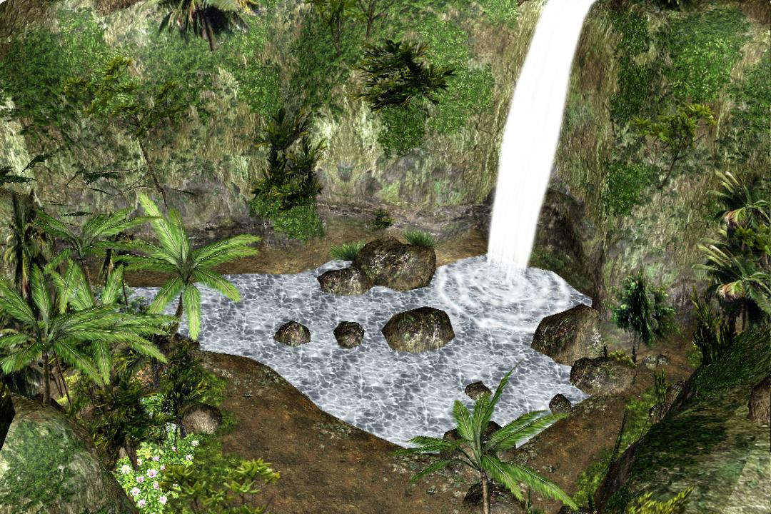 Mmd stage waterfall environment type 02 dl by for Waterfall environment