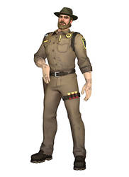 [MMD] Fortnite - Chief Hopper (Pose Data)