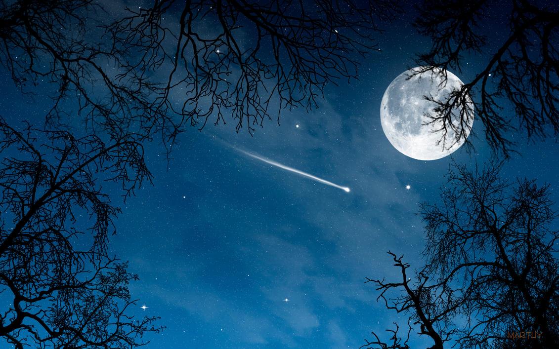 moon and stars - HD1920×1200
