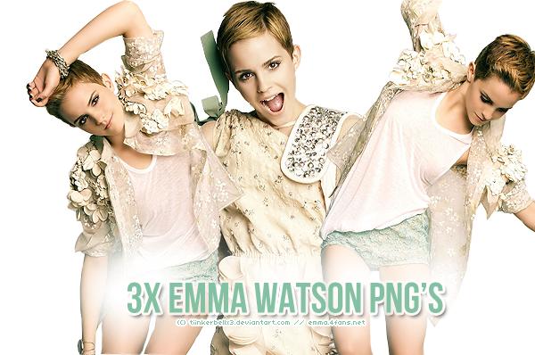 3x Emma Watson PNG's by Tiinkerbellx3
