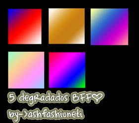 5 degradados BFF. by ashfashioneti