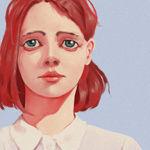 Redhead Girl In White Shirt PROCESS