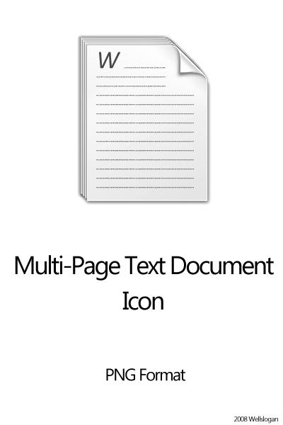 multi page text document iconwellslogan deviantart