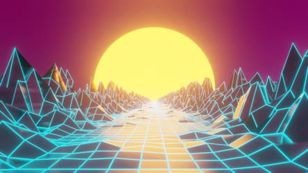Synthwave Eevee render by TRLHeartlli