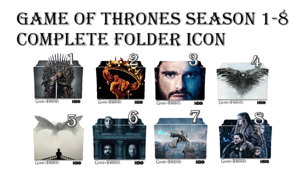 Game Of Thrones Season 1 8 Folder Icons By Kp9624 On Deviantart