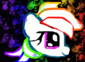 rainbow neon by mylittlepony222345