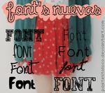 Nuevas Font's By PastelitoLoco