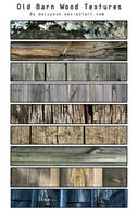 9 Barn Wood Textures by Marcynuk