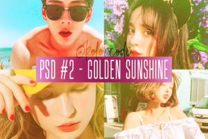 [190215] PSD #2 - Golden Sunshine by kolorcode
