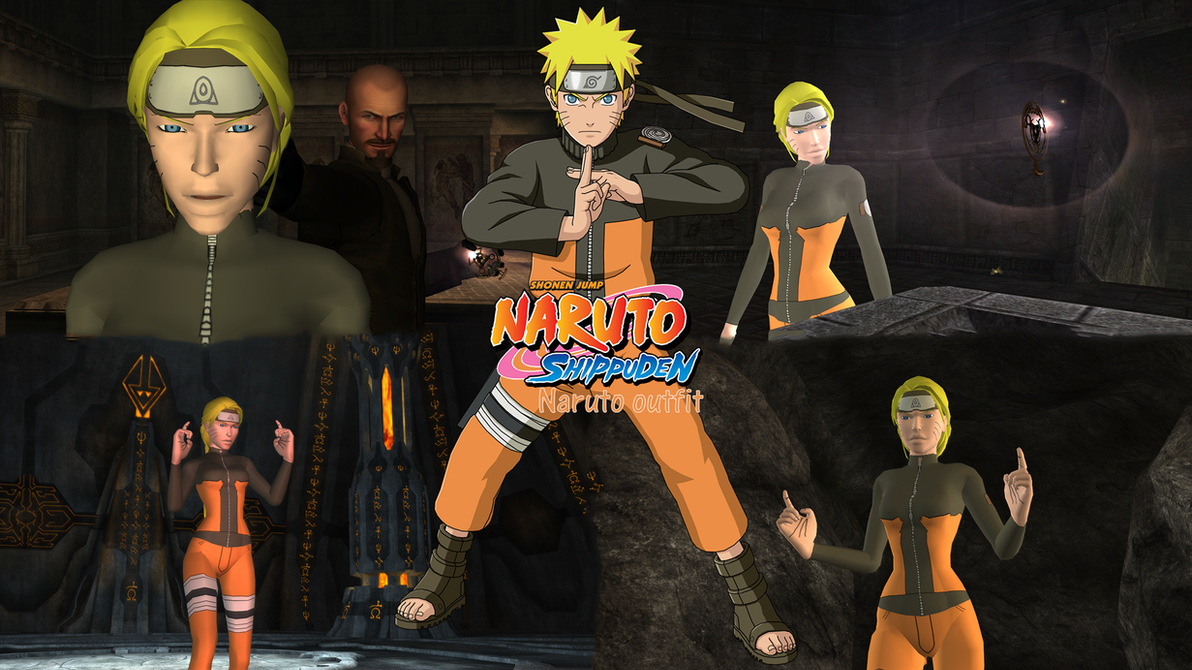 Tomb raider anniversary naruto outfit version by vlade on
