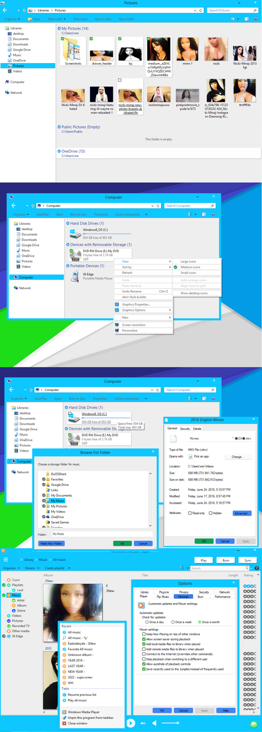 Material Design for windows 8 blue by downpat2012