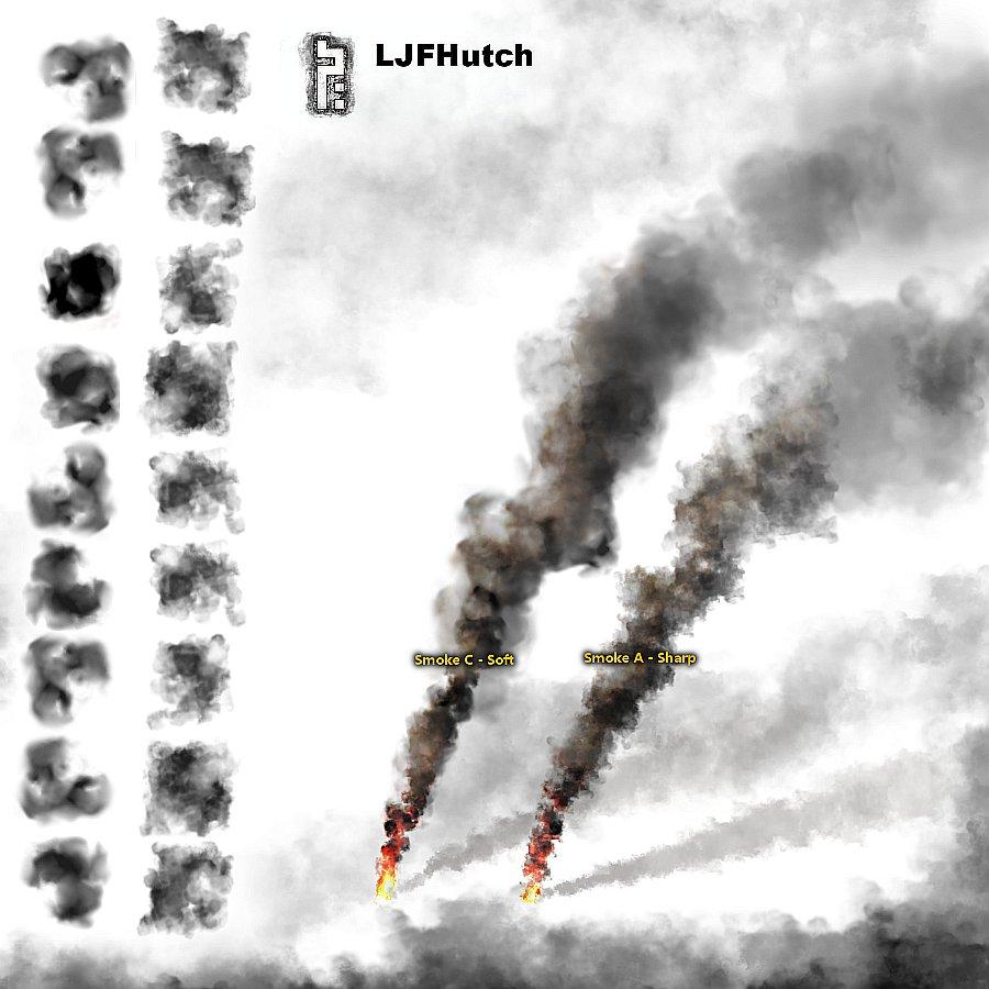 Gimp Smoke  Brushes - Animated