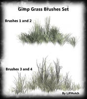 Gimp Anim. Grass Brushes Set