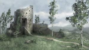 Castle Ruins Speed-paint by LJFHutch