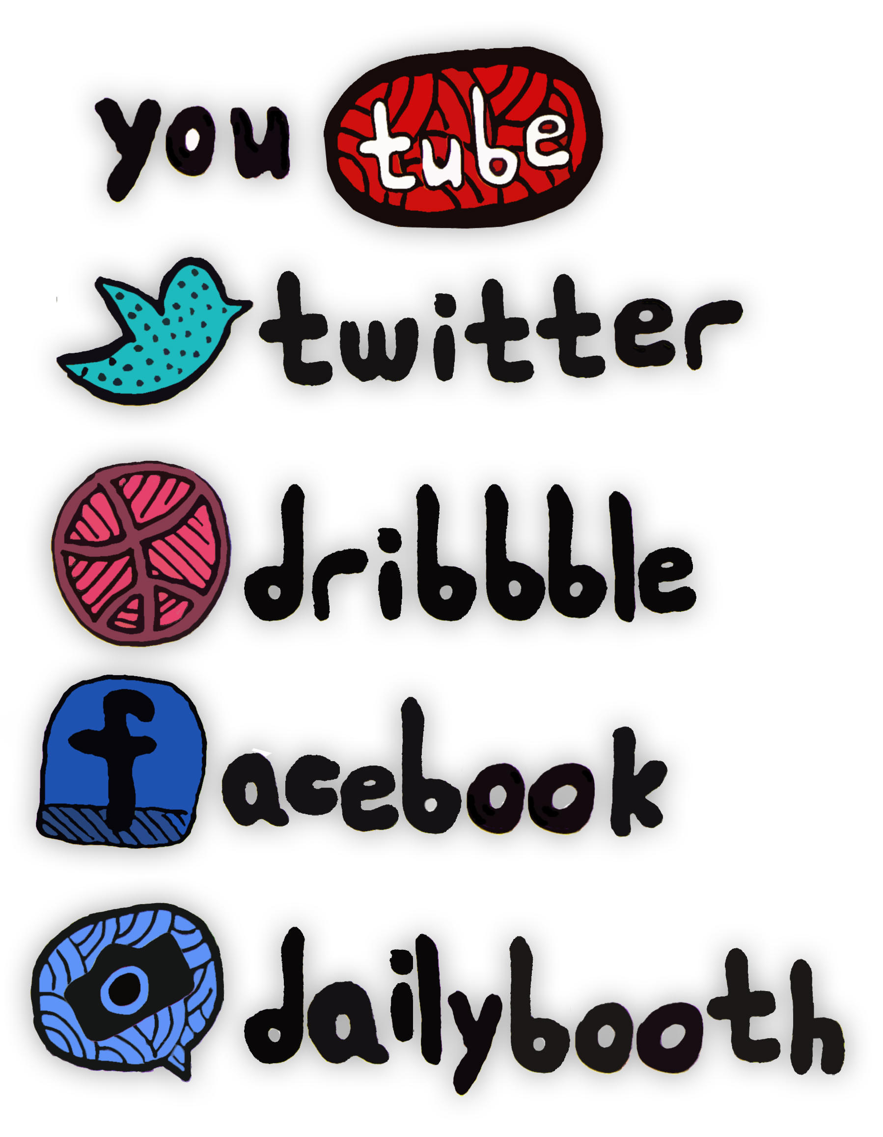 Hand Drawn Social Icons by marsdundme