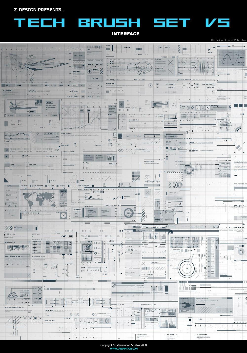 Tech Brushes  Z_DESIGN_Tech_Brushes_Set_v5_by_z_design