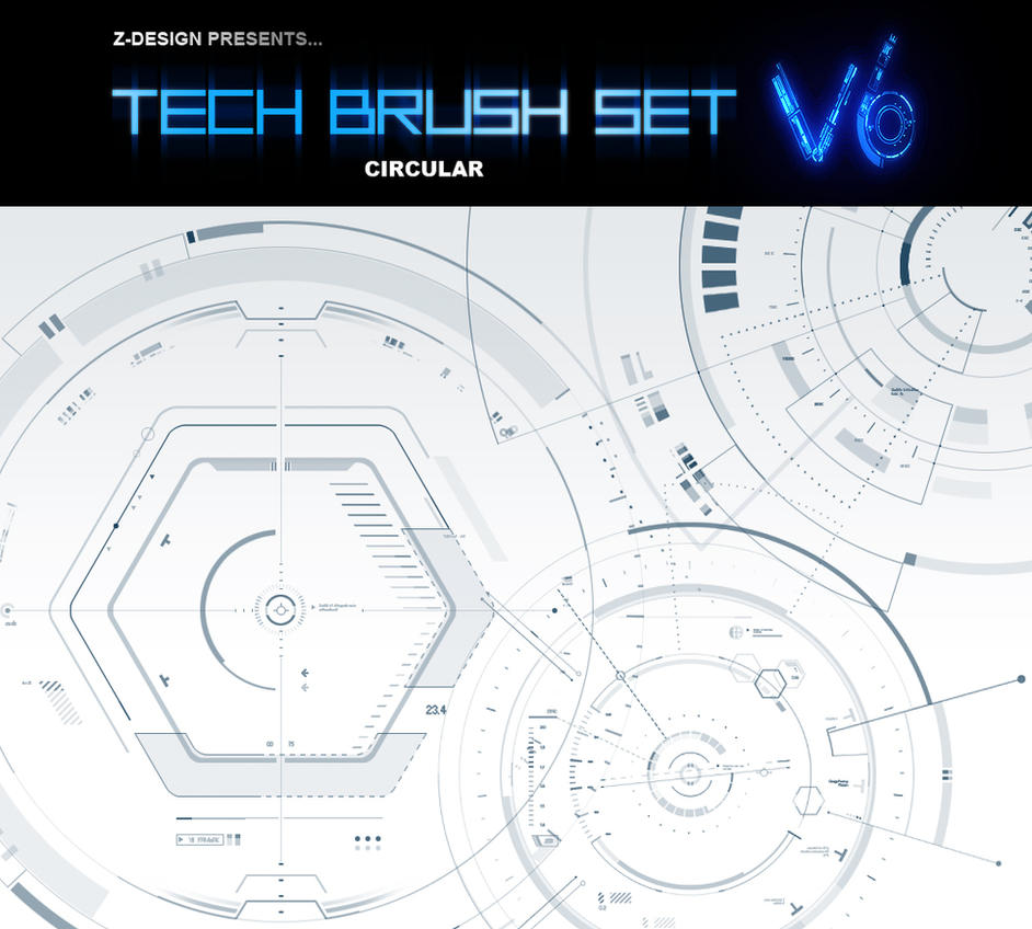 Z-DESIGN Tech Brush Set v6