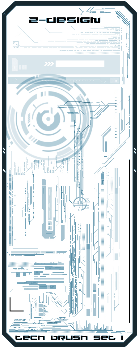 Z-design Tech Brush Set 1