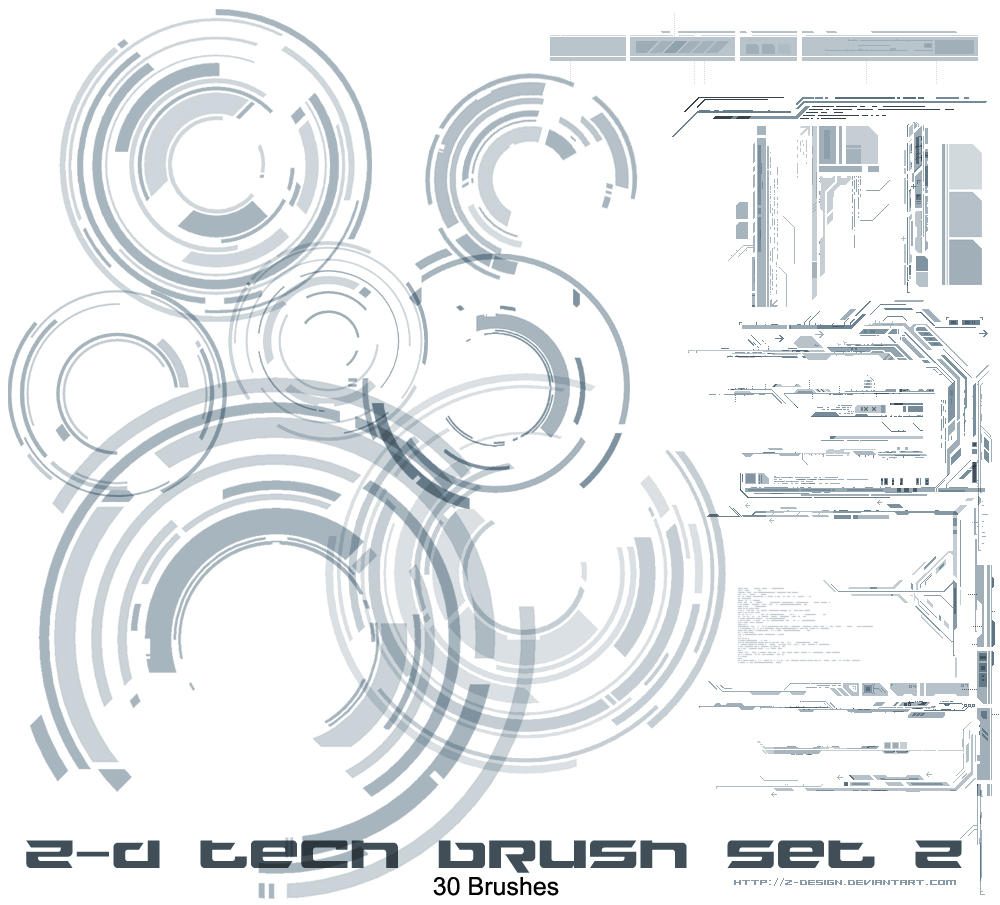 Z-design Tech brushes set v2 by z-design