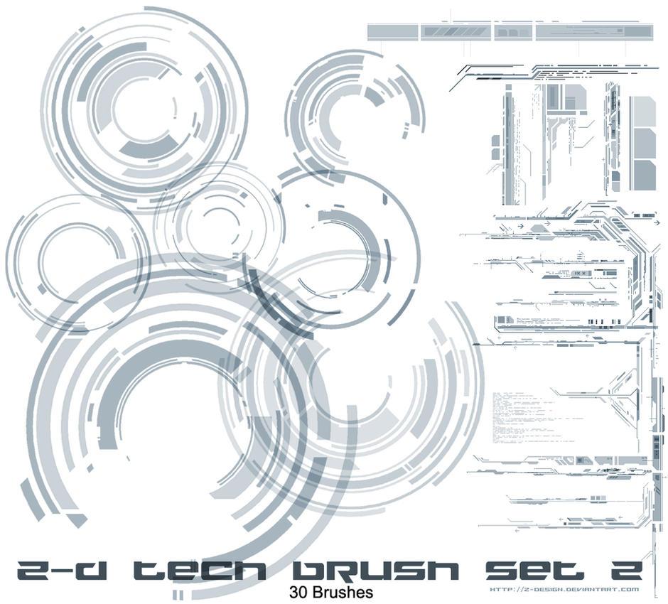 Z-design Tech brushes set v2 by z-design