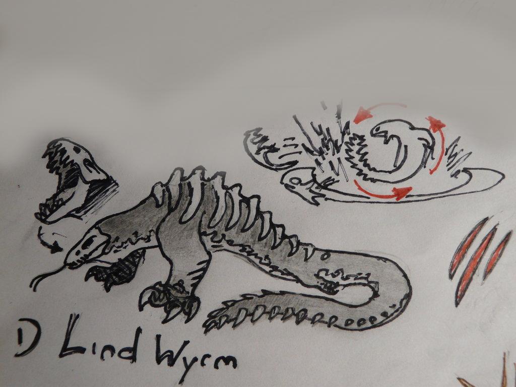 Monster Monday - Lind-Wyrm by SpeculaTimsauru5 on DeviantArt