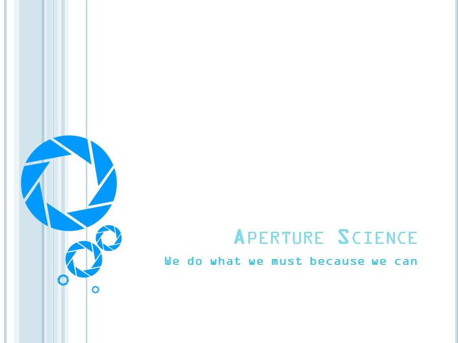 Aperture Science Pp Template By Yoshemo On Deviantart