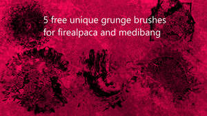 5 free grunge brushes for firealpaca and medibang by fabianclasson