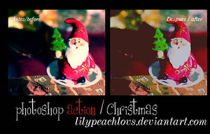 photoshop action christmas by lilypeachlovs