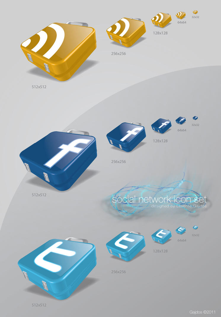 Social network icons by gajdoslevente
