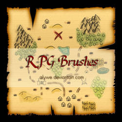 RPG Photoshop Brushes by Alywe