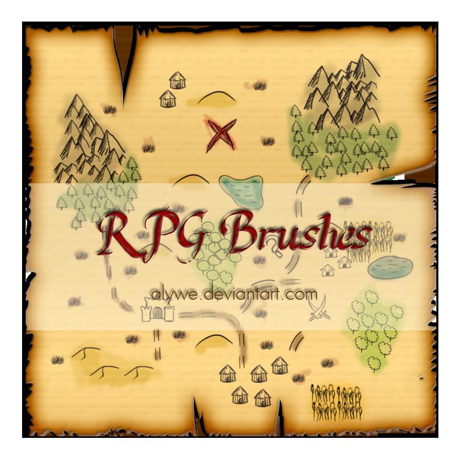 RPG Photoshop Brushes by Alywe
