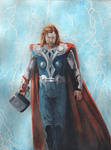 Thor watercolor commission finish