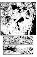 Wolverine Sample page 2 inks by JosephLSilver
