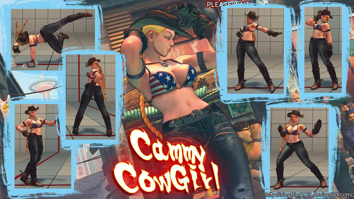 super Street fighter 4 - cammy COWGIRL by Siegfried129