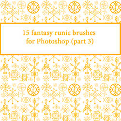 15 fantasy runic brushes for Photoshop (part 3) by CrazyStylus
