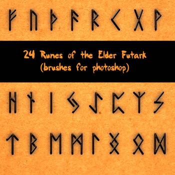 24 Runes of the Elder Futark by CrazyStylus