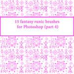 15 fantasy runic brushes for Photoshop (part 4)