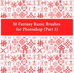 30 Fantasy Runic Brushes for Photoshop